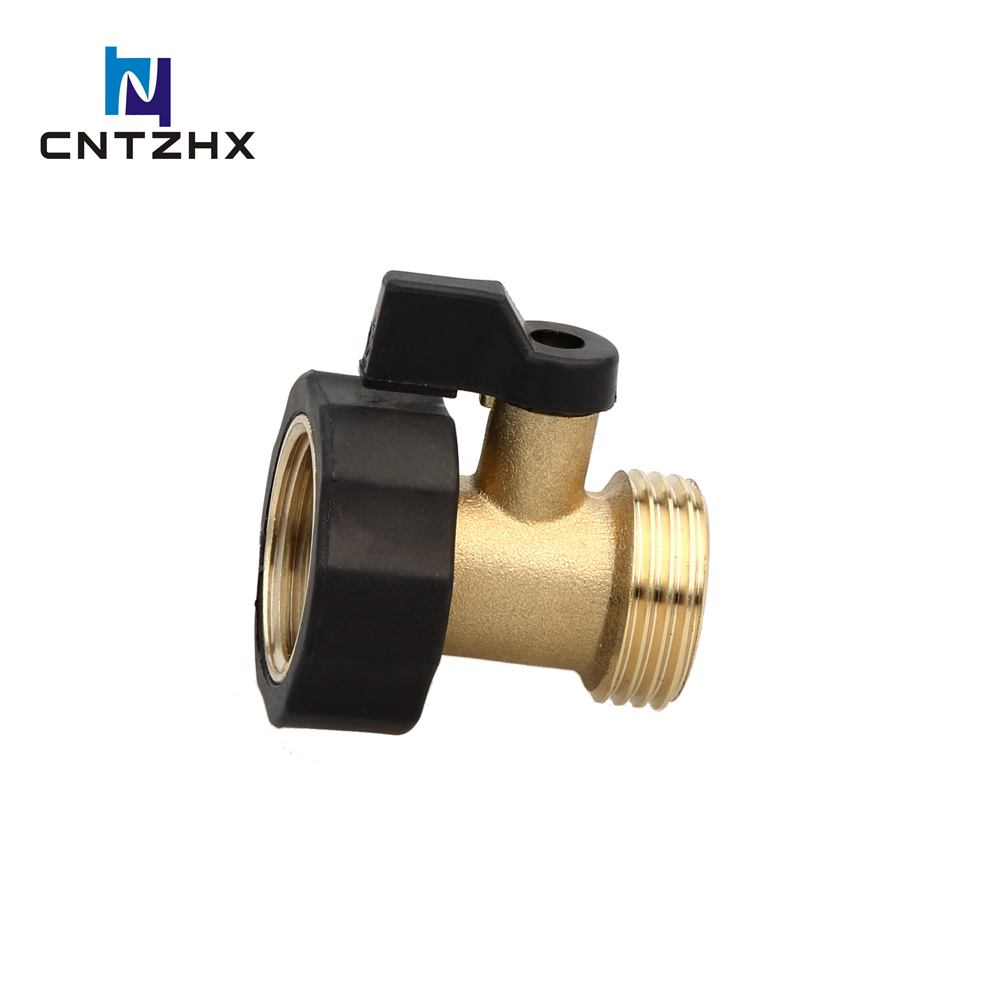 Heavy Duty Brass Shut Off Valve Garden Hose Connector